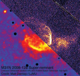 LT/HST image of super-remnant