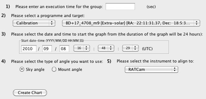 Screenshot of rotator tool when first launched awaiting input data